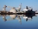 Seaport Ship Reflection